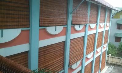 Thi công mành tre tại trường mầm non xã Đông Dư - Hà Nội