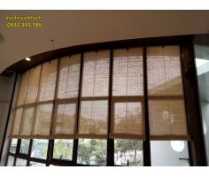 Mành trúc tăm trang trí tại quán cafe Sao Đen khu đô thị Văn Phú